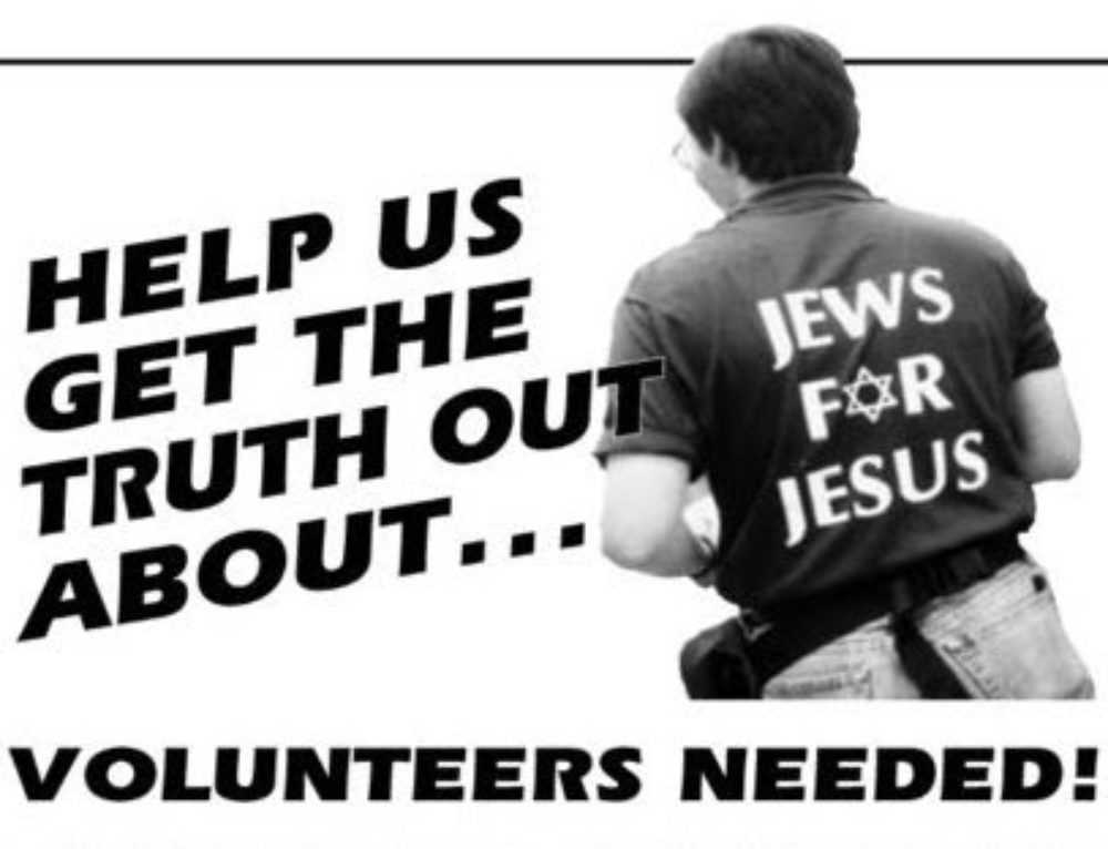 Help Jews For Judaism To Counter Missionaries On The Street – July 10 To 23, 2017
