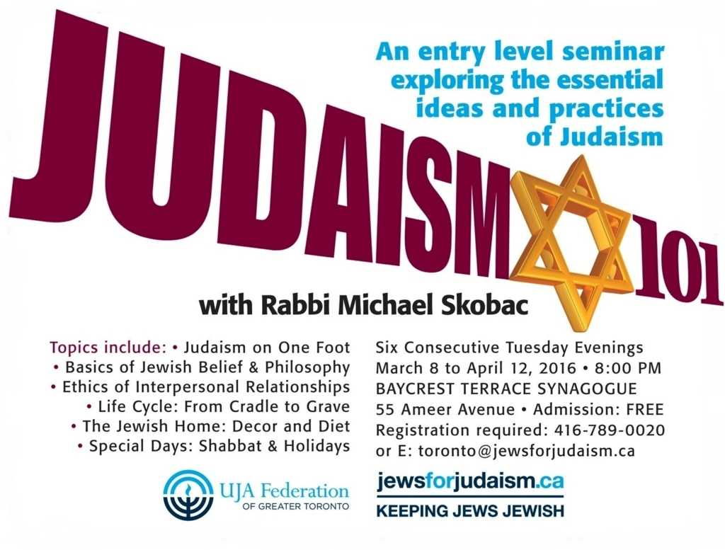 Judaism 101 With Rabbi Michael Skobac