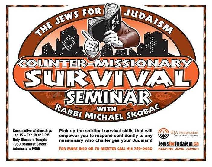 The Counter-missionary Survival Seminar Six-week Lecture Series With Rabbi Michael Skobac