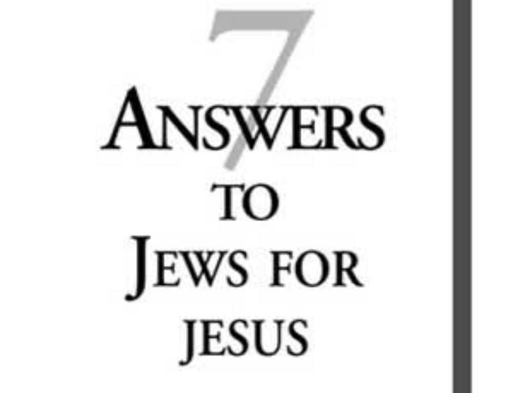 7 Answers To Jews For Jesus: Pdf