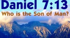 Daniel 7:13 Who Is The Son Of Man? (reply2 One For Israel Maoz Messianic Jews For Jesus Jewish Voice