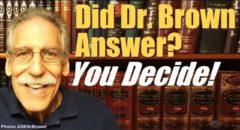Did Dr Michael Brown Answer? Askdrbrown (reply2 One For Israel Messianic Jews For Jesus Jewish Voice