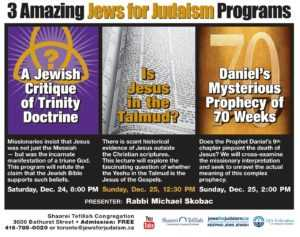 3 Amazing Jews for Judaism Programs with Rabbi Michael Skobac