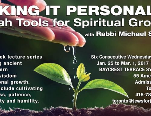 Taking It Personally: Torah Tools For Spiritual Growth