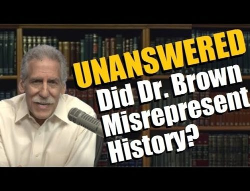 Did Michael Brown Misrepresent History? Asks Rabbi Blumenthal